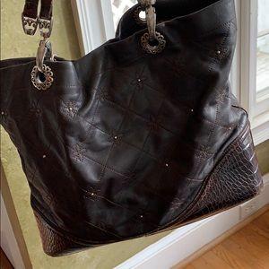 Brighton Large purse brown needs repair